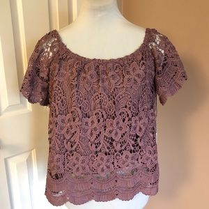 Haute Monde Lace Top NEW WITH TAGS Sz Medium